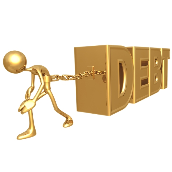 bigstockphoto_chained_to_debt_1344623