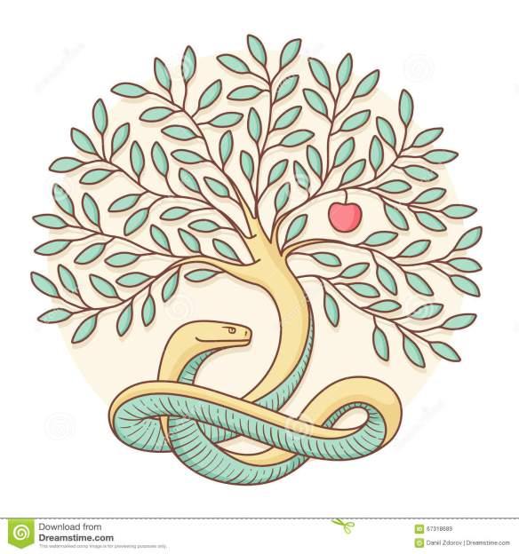 tree-knowledge-good-evil-snake-apple-colorful-design-vector-illustration-67318689